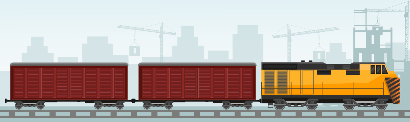 When trains transfer goods, a significantly less amount of carbon dioxide is emitted