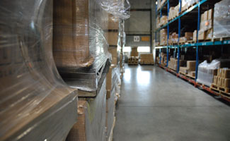 Photo of a McKenna Logistics warehouse with loading bay